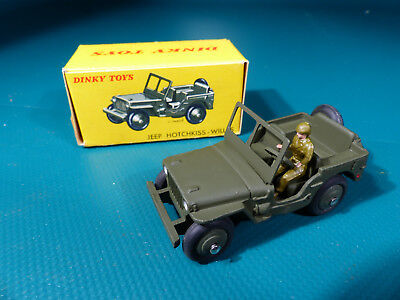 1950's Dinky Toys 80BP Jeep Hotchkiss - Willys      - NOS / MIB Lagerfund