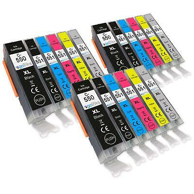 18 Ink Cartridges for Canon PIXMA MG7150, MG7500, MG7550