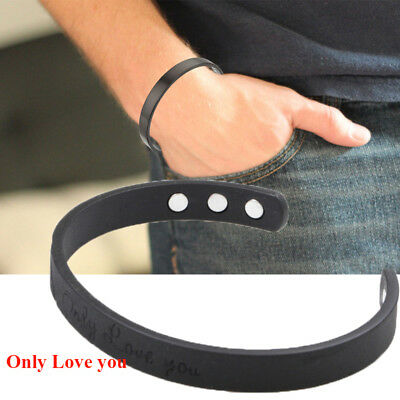 Dark Copper Magnetic Therapy Bracelet 6 Magnets Arthritis Cuff Bangle Wristband