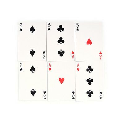 2 set Magic 3 Three Card Trick Card Easy Classic Magic playing cards for fun HVN