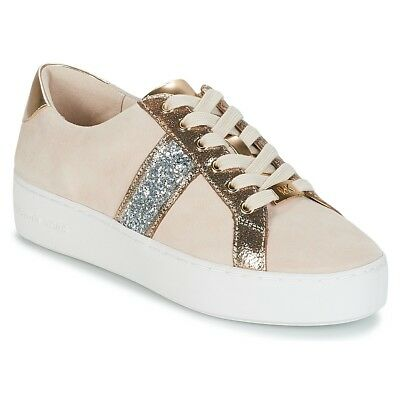 2e9870bbcc Sneakers Scarpe donna MICHAEL Michael Kors POPPY STRIPE LACE UP Oro Oro.