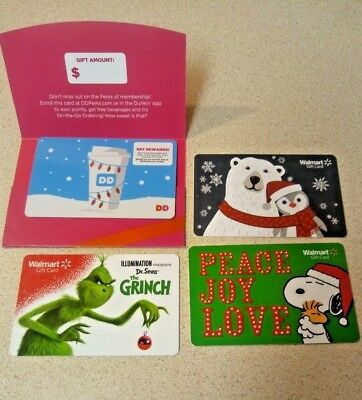 4 Collectible gift cards  🚫NO🚫VALUE🚫