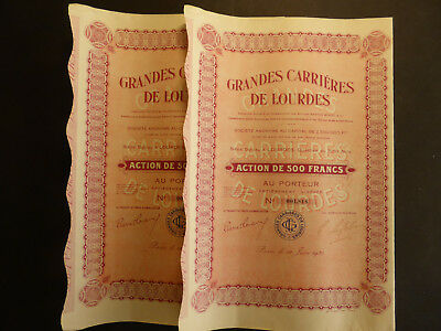 Lot : 2 X Grandes Carrieres De Lourdes 1930