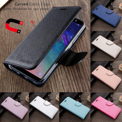 For Samsung Galaxy J7 J6 J4 Plus J2 2018 Magnetic Leather Flip Wallet Case Cover