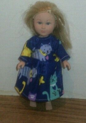 "6-7"" Doll Clothes-fit Mini American Girl My Life-Nightgown-Mix Cats"