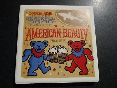DOGFISH HEAD BREWERY American Beauty Grateful Dead COASTER craft beer brewing