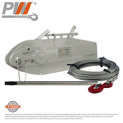 ProWinch 11880 lbs. 5,400Kg Lever Wire Rope Puller Hoist 65 ft wire rope