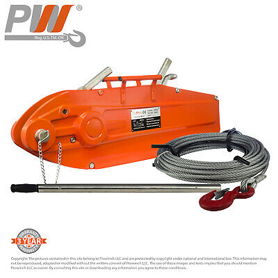 ProWinch Lever Wire Rope Puller Hoist 11,880 lbs 65 ft. Wire Rope