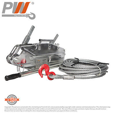 ProWinch Lever Wire Rope Puller Hoist 7040 lbs. 65 ft. Wire Rope