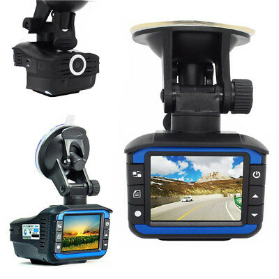 HD Car Grabador DVR oculto Video Dash Cam Cámara Laser Detector de radar