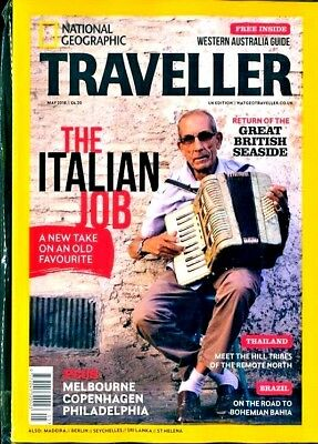National Geographic Traveller Magazine May 2018 ~ Italy ~ Thailand ~ Brazil ~