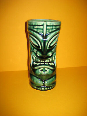 Tiki Farm - 2000 by Squid - Warrior Tiki Mug - Jungle Green