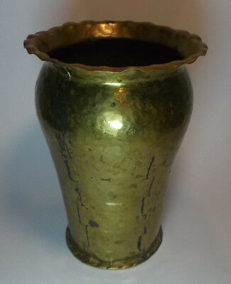 H. Wremp Vase Messing mid century swedish handarbeit