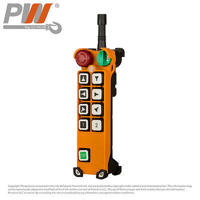 ProWinch F24 Transmitter (only) 8 Buttons Two Speed