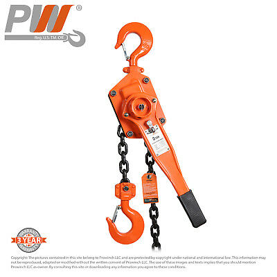 ProWinch Lever Chain Hoist 3 ton 6,600 lbs 5 ft G80 Black Tempered Chain