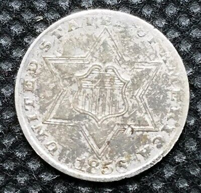 1856 Three Cent Piece (Silver) | VERY FINE | Lightly Toned Beauty!