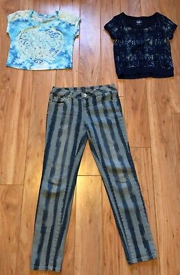 Mixed Clothing Lot Girls 3 Piece Set Size 10 Brand Justice Multi-Colored