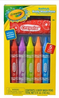 Crayola Bathtub Body Wash Paint Pens Comes With Washcloth New Sealed Box