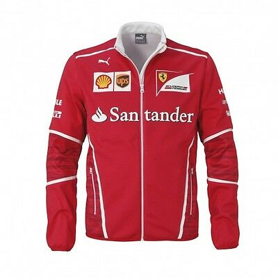 F1 Scuderia FERRARI Puma Mens Team Soft Shell Jacket Coat - New OFFICIAL *SALE*