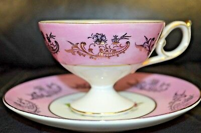 Royal Halsey Very Fine China Cup And Saucer Rose Pattern