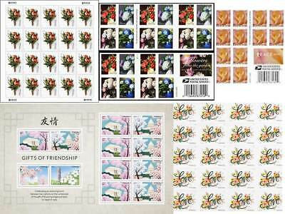 USPS Forever Stamps Love Flower Wedding Rose Garden - Pick Your Choice