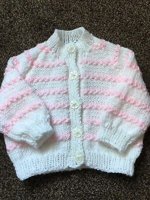 de76ccf3f NEW BEAUTIFUL HAND Knitted Baby s Yellow Aran Cardigan . To Fit Age ...