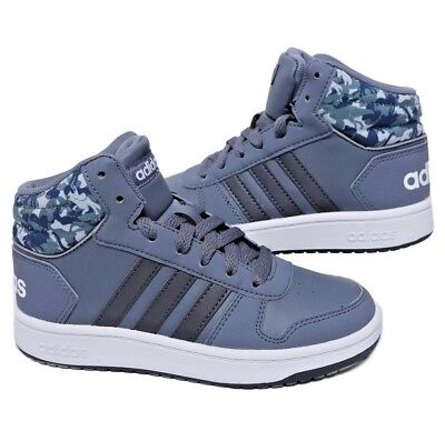 sports shoes 7f7d2 166d9 Scarpe Bambino Adidas Hoops Mid 2.0 B75752 GrigioCamouflage Sneakers Alta  Nuovo