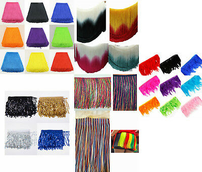 9/12/15/20/30cm long fringing tassel 15cm feather costume dress fringe trim YARD