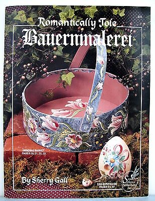 Sherry Gall ROMANTICALLY TOLE BAUERNMALEREI Easter eggs basket trinket box watch