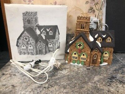 Department 56 Dickens Village Knottinghill Church Lighted Porcelain Building