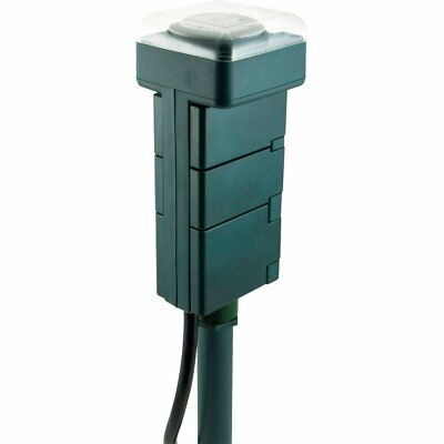 GE Outdoor/Plug-In 6-outlet Yard Stake Timer