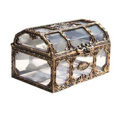 1pc Treasure Box Transparent Treasure Chest for Jewelry Gem Crystal Collectibles