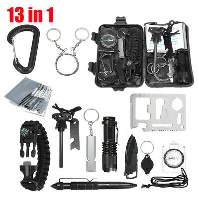 13x Emergency Survival Equipment Kit Outdoor Sports Tactical Hiking Camping Tool