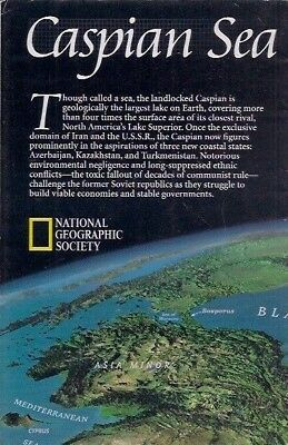 national geographic map-MAY 1999-CASPIAN SEA.