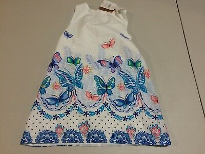 NWT Gymboree  Butterfly dress Dress Toddler Girls White  2T, 4T