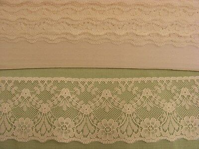 Flat Cream Lace 60mm wide x 10 metres (48545)
