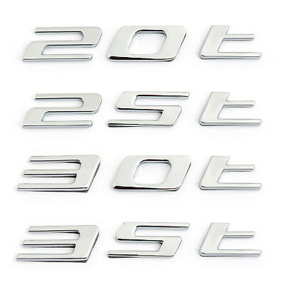 Chrome Letter 20T 25T 30T 35T Car Sticker Auto Rear Decal Emblem Jaguar F-PACE
