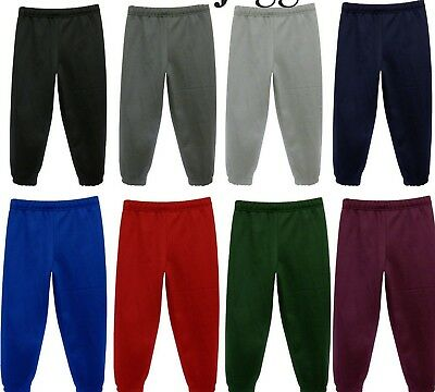 Boys Girls Children School P.E Fleece Jogging Bottoms Joggers Tracksuit Bottom