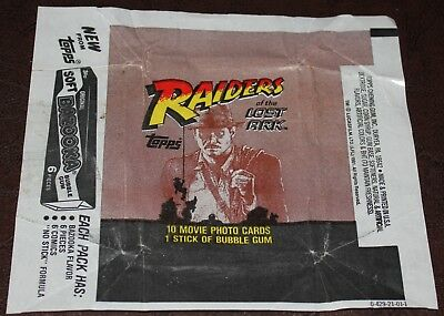 1981 Raiders of the Lost Ark Wax Pack Card Wrapper NO TEARS