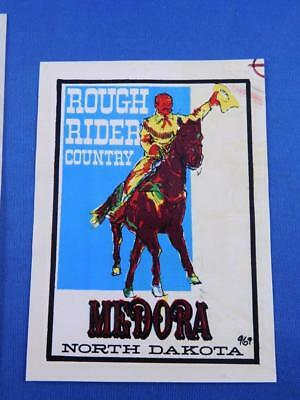 38277a51473 Medora North Dakota Sticker Decal Souvenir Vintage Rough Rider Country