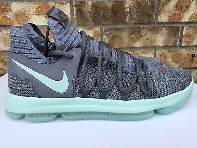 edb0ef645cd Men s Nike Zoom KD 10 X Basketball Shoes Cool Grey Igloo White Mint 897815- 002