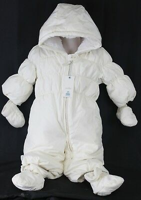 7cfc79d2a BABY GAP DOWN Snowsuit 6-12 Months Navy One Piece Matching Mittens ...