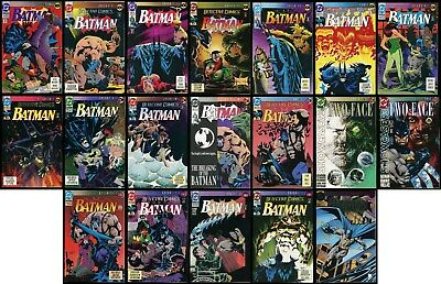 Batman Knightfall Comic Set 1-2-3-4-5-6-7-8-9-10-12-13-14-15-16-17-18-19 Lot 1st