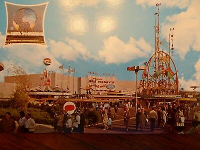 Pepsi World's Fair Postcard - 1964-65 New York Worlds Disney Small World Card