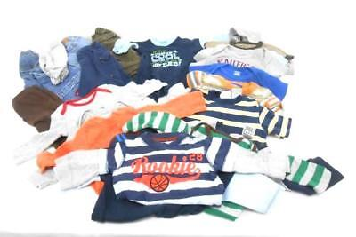 Big Lot of 22 Boys Baby Clothes 0-3 Months T-Shirt Jacket Jeans Overalls