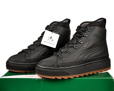 85a94897d8b Puma The Ren Boot Mens Lace Up Leather Boots Black Hi Top 363366 01  Sneakerboot