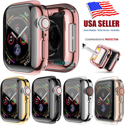 For Apple Watch Series 4 Full Cover Silicone Case Shockproof Bumper 40mm 44mm