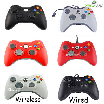 2 X USB Wired/Wireless Controller Video GamePad For Xbox 360 & PC Windows XP 7 8