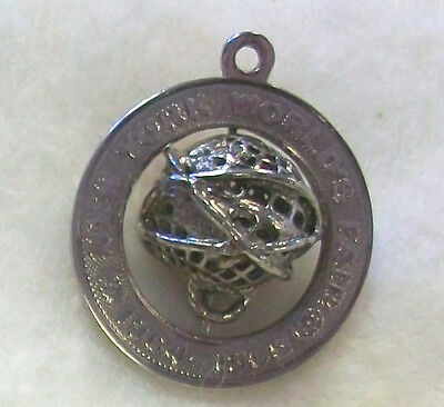 1964-65 New York World's Fair Official Souvenir STERLING Unisphere Pendant