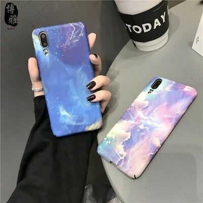 Blue Magic Cloud Pattern Hard Shockproof Skin Case Cover for Huawei P20 Pro/Lite